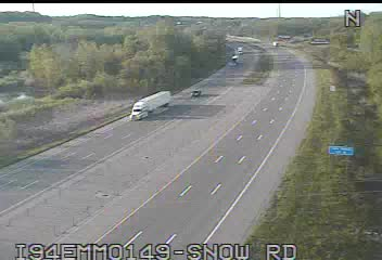 I-94 @ Snow Rd-Traffic closest to camera is traveling East (2075) - USA