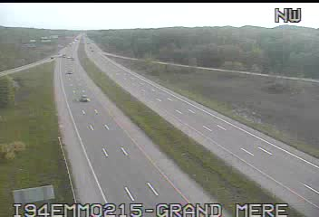 I-94 @ Grand Mere-Traffic closest to camera is traveling East (2076) - USA