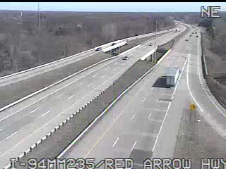 I-94 @ Red Arrow-Traffic closest to camera is traveling East (2077) - USA