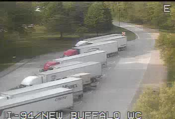 I-94 @ New Buffalo-Traffic closest to camera is traveling East (2256) - USA