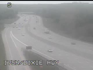 I-75 @ Dixie Hwy-Traffic closest to camera is traveling North (2028) - USA