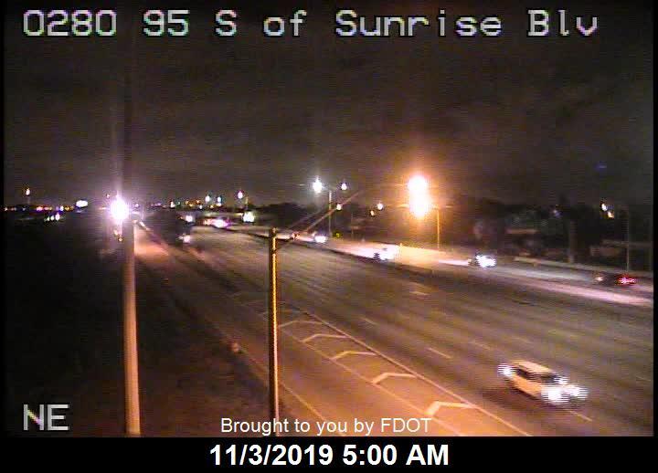 I-95 S of Sunrise Blvd - Southbound - 508 - Florida