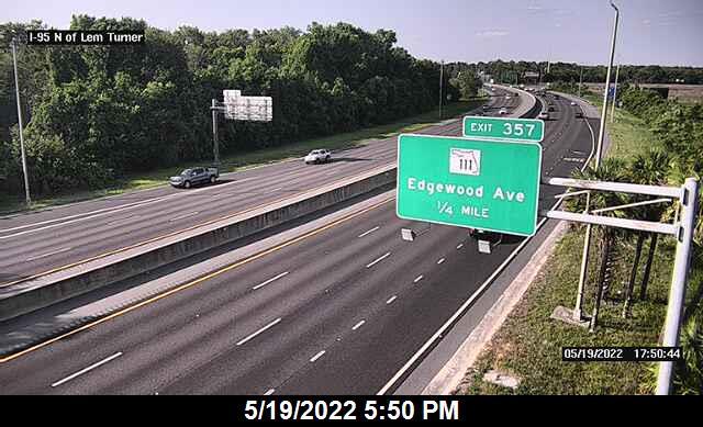 I-95 N of Lem Turner Rd - Southbound - 296 - Florida