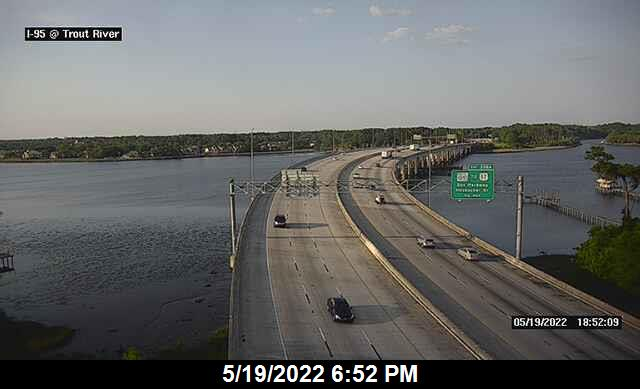 I-95 at Trout River Bridge - Northbound - 298 - Florida