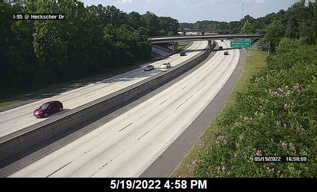 I-95 at Heckscher Dr - Southbound - 299 - Florida