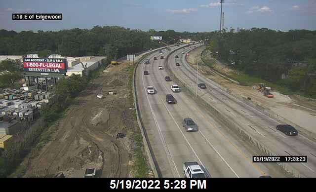 I-10 East of Edgewood Ave - Eastbound - 325 - Florida