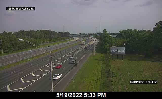 I-295 W N of Collins Rd - Southbound - 338 - Florida