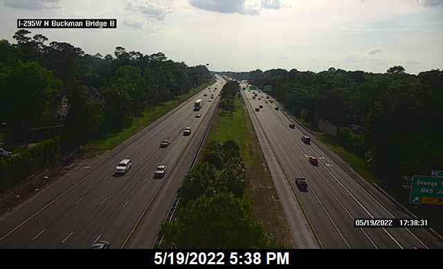I-295 W at N Buckman Bridge - Southbound - 345 - Florida