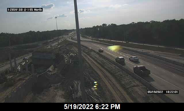 I-295 W SB at I-95 North Interchange - Southbound - 447 - Florida