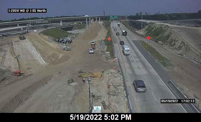 I-295 W NB at I-95 North Interchange - Northbound - 448 - Florida
