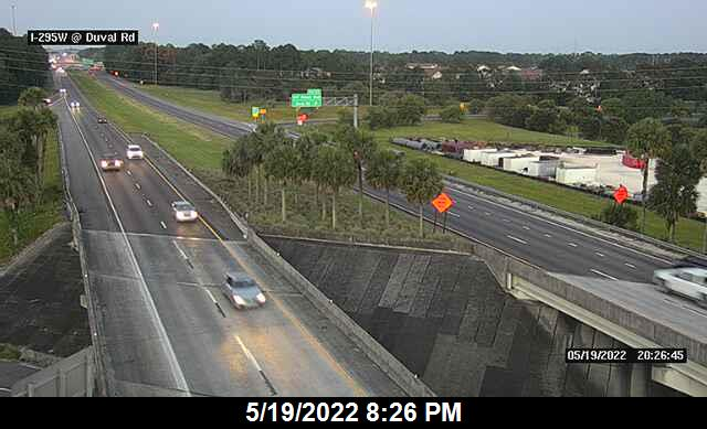 I-295 W at Duval Rd - Southbound - 450 - Florida