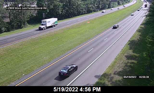 I-295 W btwn Duval Rd / Lem Turner - Southbound - 452 - Florida