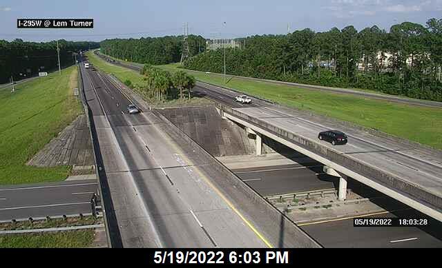I-295 W at Lem Turner Rd - Southbound - 454 - Florida