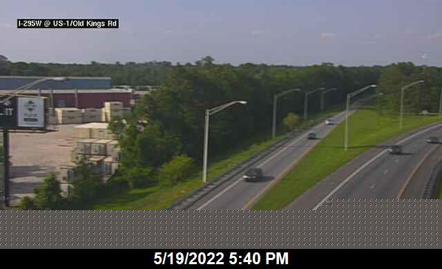 I-295 W S of US-1 / New Kings Rd - Southbound - 461 - Florida
