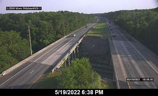 I-295 W btwn US-1 / Pritchard Rd - Southbound - 462 - Florida