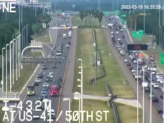 I-4 at US-41 / 50th St - Westbound - 528 - Florida