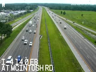 I-4 at McIntosh Rd - Eastbound - 529 - Florida