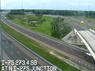 I-75 at N I-275 junction - Northbound - 798 - Florida