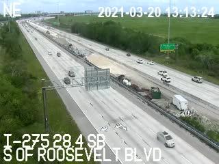 I-275 S of Roosevelt Blvd - Southbound - 487 - Florida