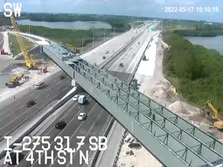 I-275 at 4th St N - Southbound - 493 - Florida