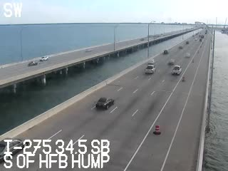 I-275:  S of HowardFrank Br Hump - Southbound - 495 - Florida