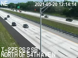 I-275 N of 54th Ave N - Southbound - 537 - Florida