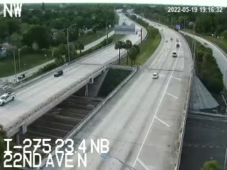 I-275 NB at 22nd Ave N - Northbound - 624 - Florida