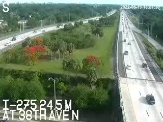 I-275 median at 38th Ave N - Northbound - 637 - Florida