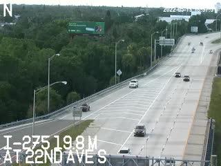 I-275 median at 22nd Ave S - Northbound - 640 - Florida