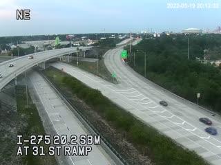 I-275 SB at 31st St ramp - Southbound - 641 - Florida