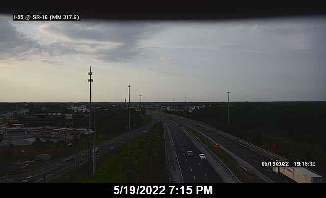 I-95 @ SR-16 - Northbound - 651 - Florida