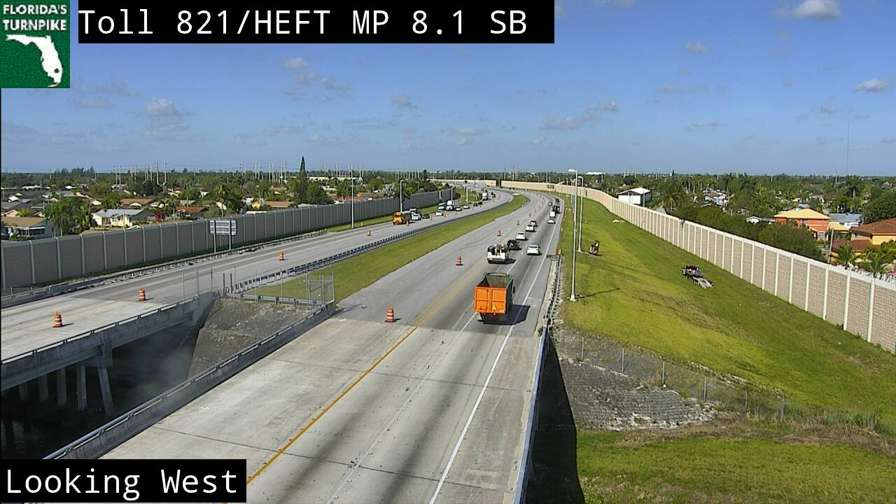 Tpke MM 008 S of Allapattah Rd - Southbound - 3176 - Florida