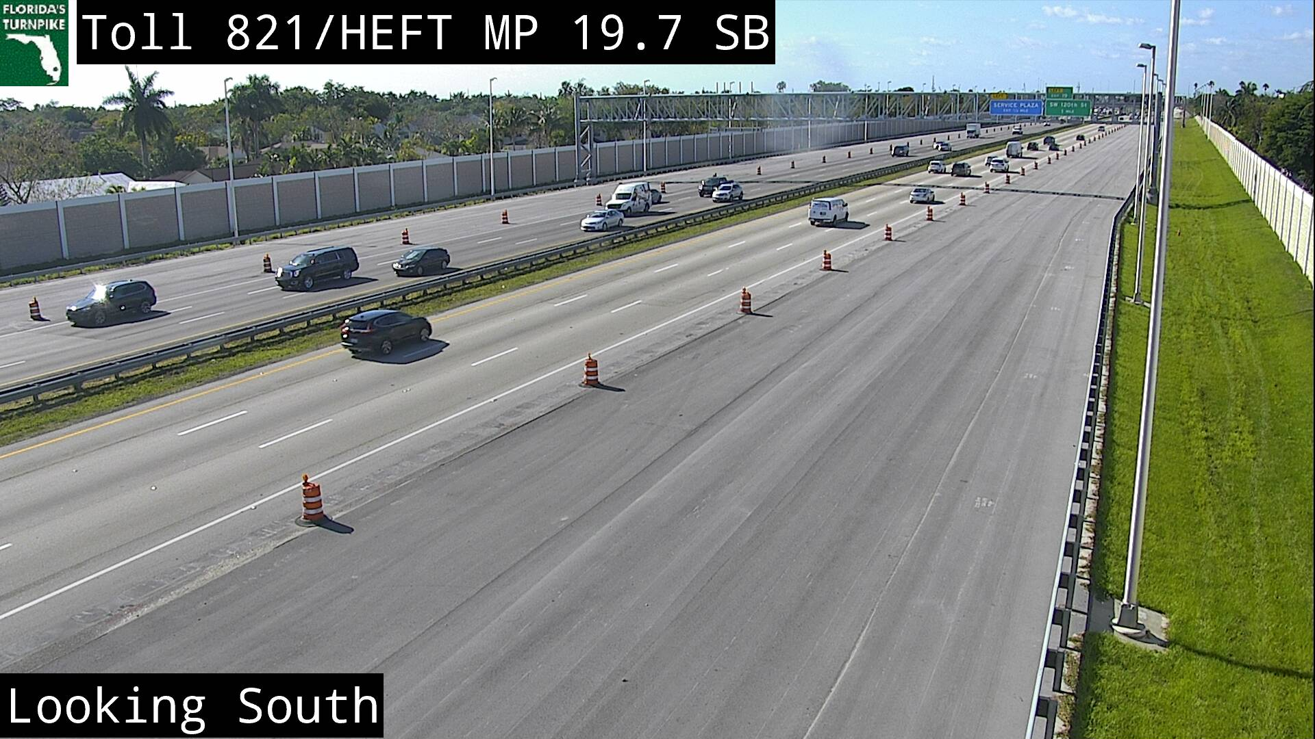 Tpke MM 020 S of Kendall Dr - Southbound - 3193 - Florida