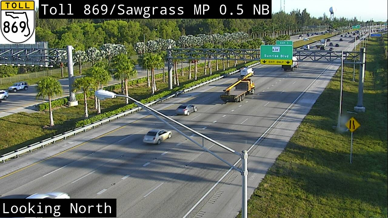 Sawgrass Expwy MM 01 at I-75/ I-595 - Northbound - 3225 - Florida