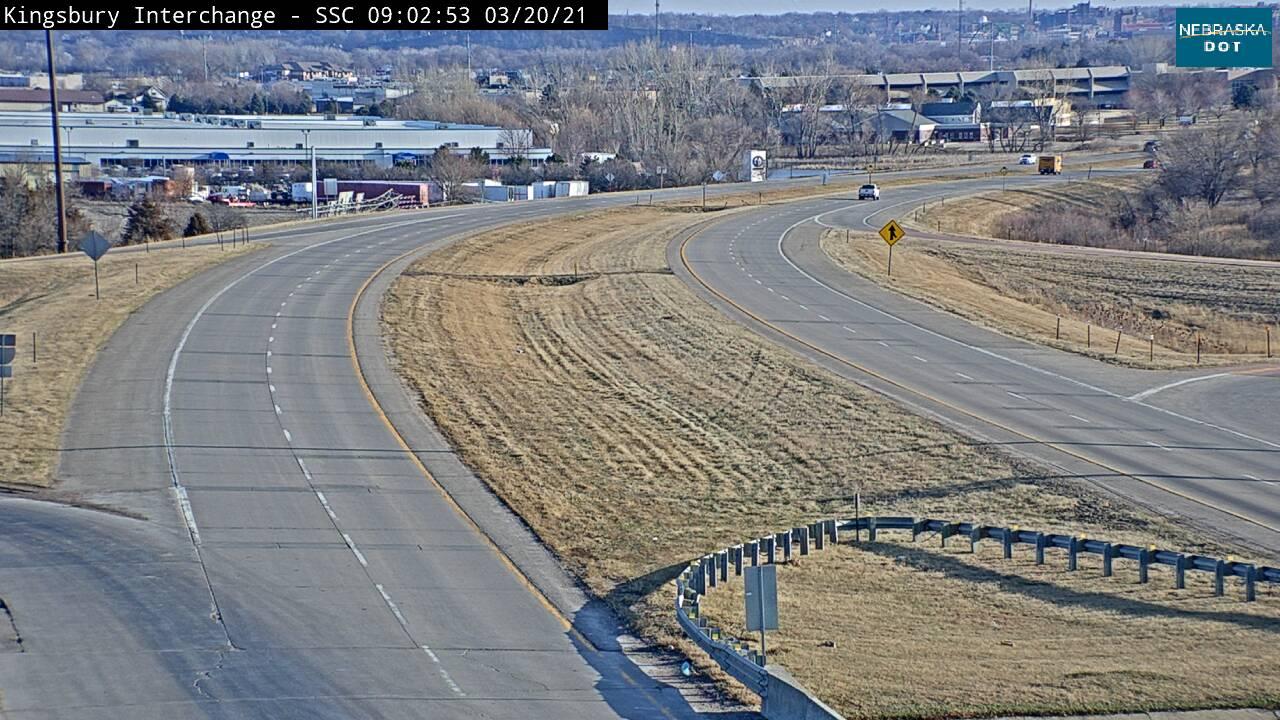 Jct at So Sioux City - 77 looking north - I-129 - USA