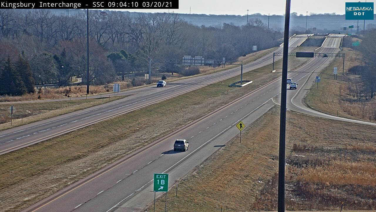 Jct at So Sioux City - 129 looking east - I-129 - USA