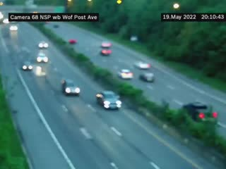 I-90 at Interchange 55 (Lackawanna Toll Barrier) View 1 (4ml43040a) - New York City