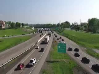 I-90 East of Interchange 50A (Cleveland Drive) (4ml42050w NYT) - New York City