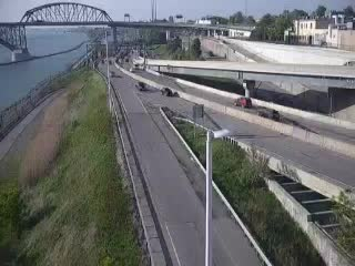 I-190 South of the Peace Bridge (4ni00687s NYT) - New York City