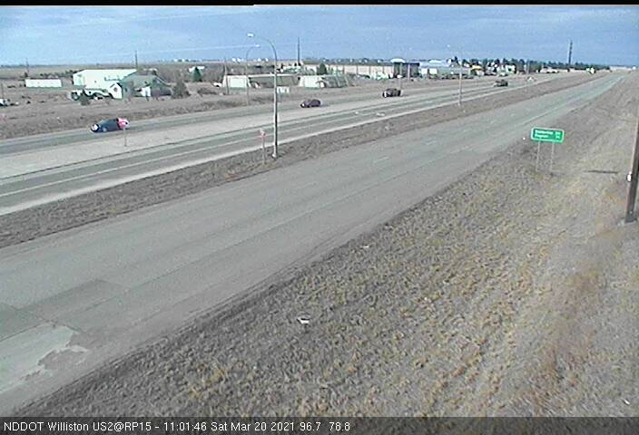 Williston - West (US 2 MP 14.8) - NDDOT - USA