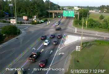 US 17 Bus (Market St) at US 117/NC 132 (College Rd) / Gingerwood Dr  - New Hanover (66) - USA