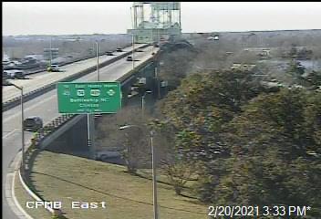 US 76/421 at Cape Fear Memorial Bridge (East side)  - New Hanover (404) - USA