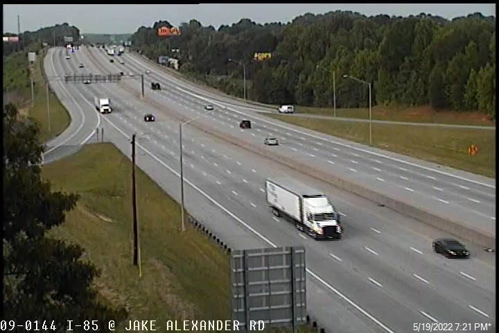 I-85 at Jake Alexander Blvd - Rowan (481) - USA