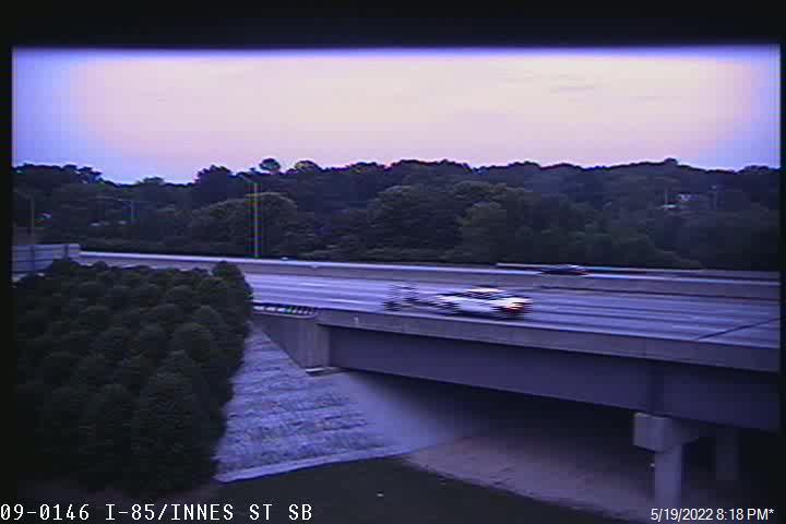 I-85 South at East Innes St - Rowan (484) - USA