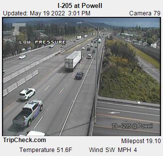 I-205 at Powell (227) - Oregon