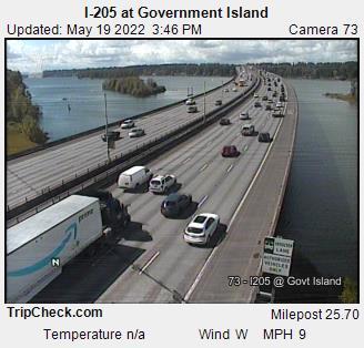 I-205 at Government Island (105) - Oregon