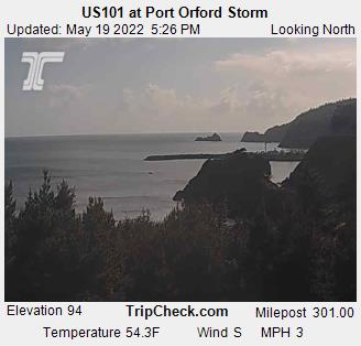 US101 at Port Orford Storm (518) - Oregon