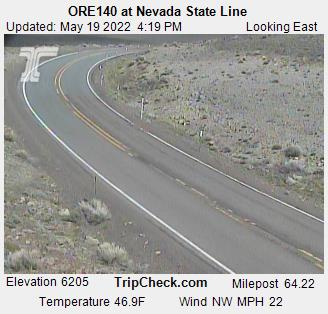 ORE140 at Nevada State Line (580) - USA