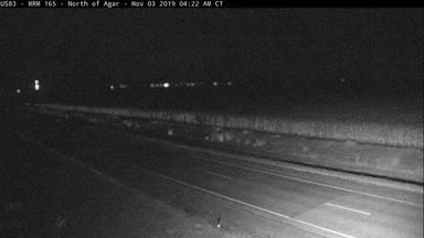 Agar - North of town along US-83 @ MP 165 - Camera Looking North - South Dakota