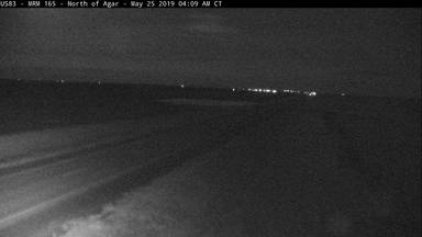 Agar - North of town along US-83 @ MP 165 - Camera Looking South - South Dakota